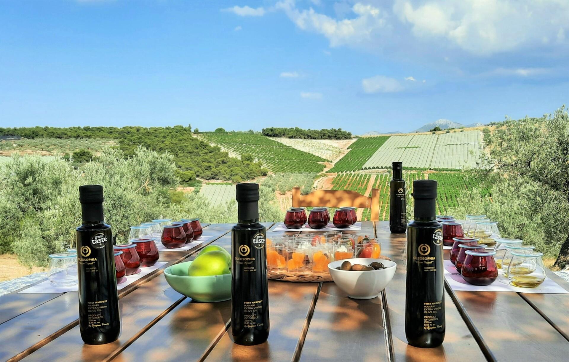 OLEOSOPHIA_ olive oil tasting_setting_result